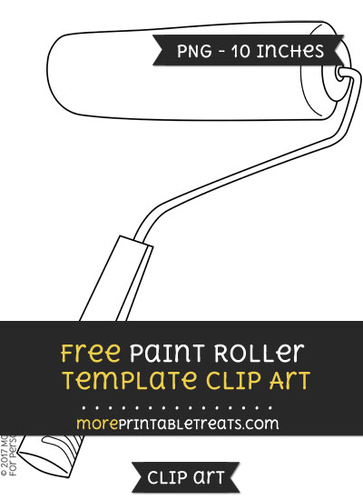 Free Paint Roller Template - Clipart