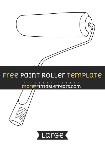 Free Paint Roller Template - Large
