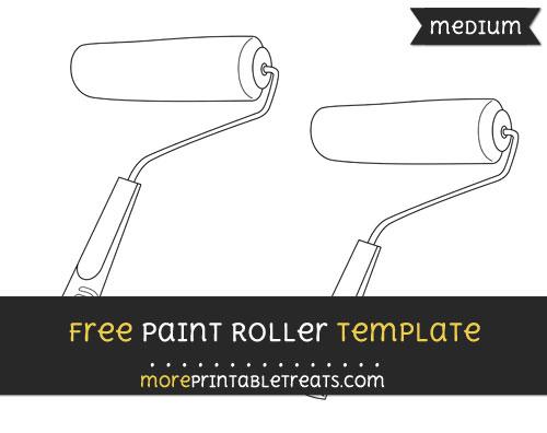 Free Paint Roller Template - Medium