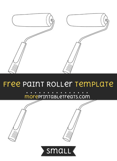 Free Paint Roller Template - Small
