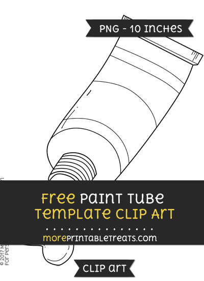 Free Paint Tube Template - Clipart