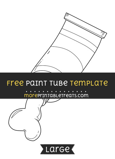Free Paint Tube Template - Large