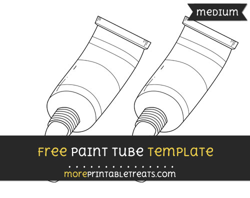 Free Paint Tube Template - Medium