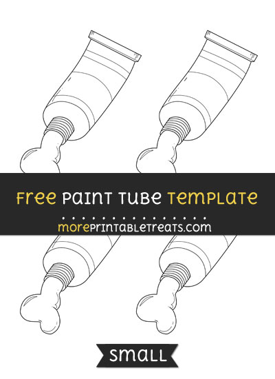 Free Paint Tube Template - Small