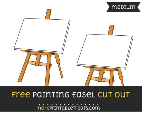 Free Painting Easel Cut Out - Medium Size Printable