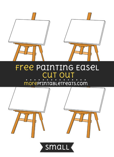 Free Painting Easel Cut Out - Small Size Printable