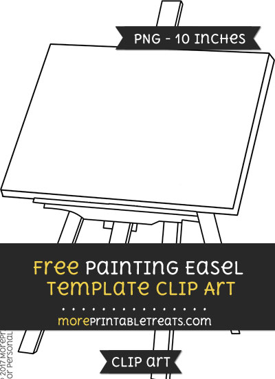 Free Painting Easel Template - Clipart