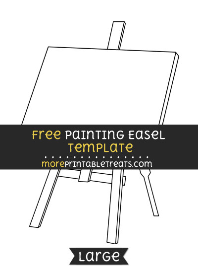 Free Painting Easel Template - Large