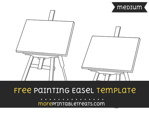 Free Painting Easel Template - Medium