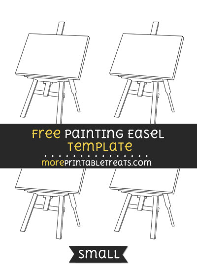 Free Painting Easel Template - Small