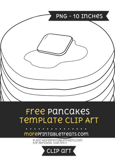 Free Pancakes Template - Clipart
