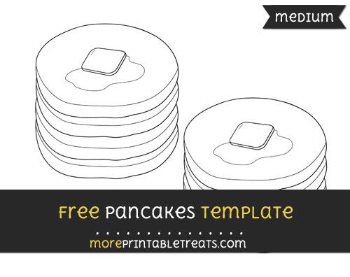 Free Pancakes Template - Medium