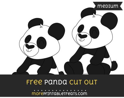Free Panda Cut Out - Medium Size Printable