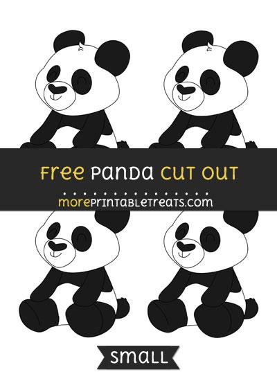 Free Panda Cut Out - Small Size Printable
