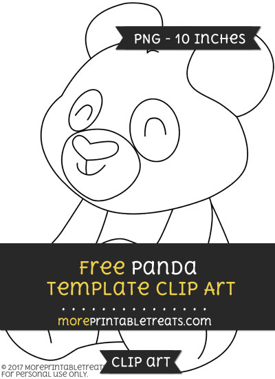 Free Panda Template - Clipart