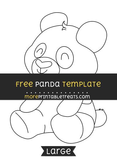 Free Panda Template - Large