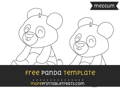Free Panda Template - Medium