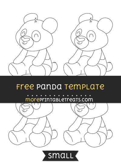 Free Panda Template - Small
