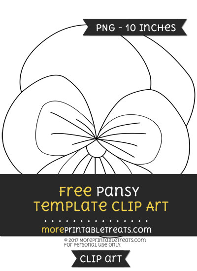 Free Pansy Template - Clipart