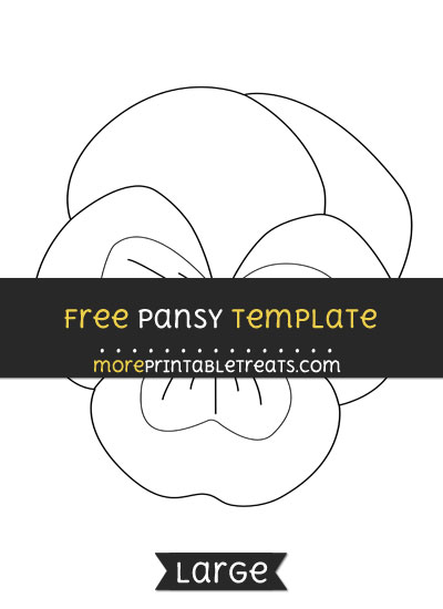 Free Pansy Template - Large