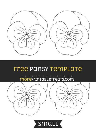 Free Pansy Template - Small