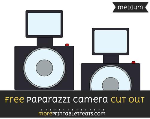 Free Paparazzi Camera Cut Out - Medium Size Printable