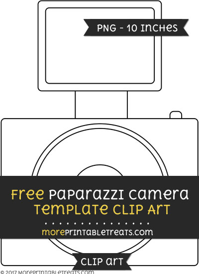 Free Paparazzi Camera Template - Clipart