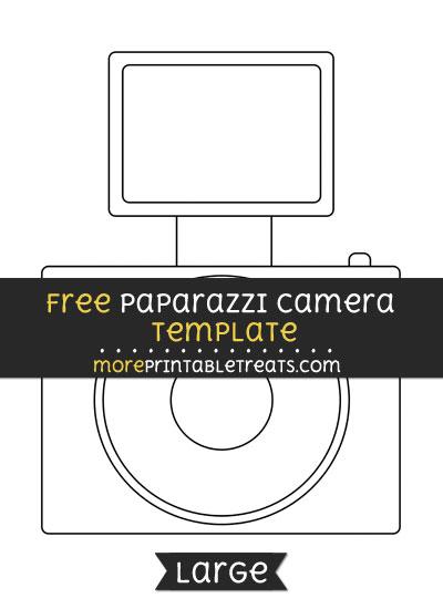 Free Paparazzi Camera Template - Large