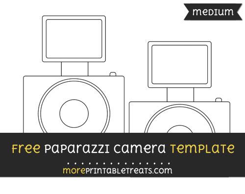 Free Paparazzi Camera Template - Medium