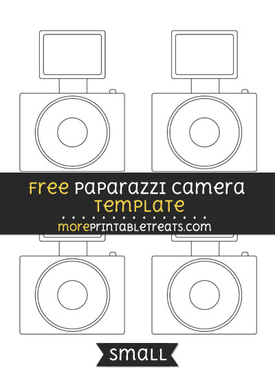 Free Paparazzi Camera Template - Small