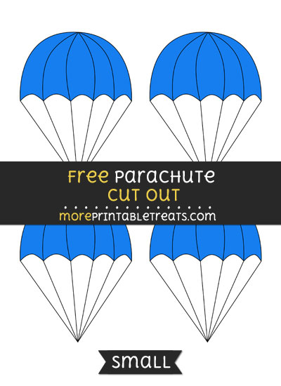 Free Parachute Cut Out - Small Size Printable