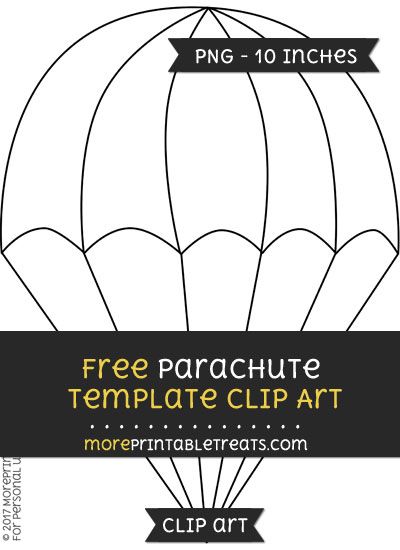Free Parachute Template - Clipart