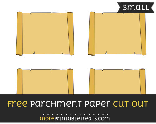 Free Parchment Paper Cut Out - Small Size Printable