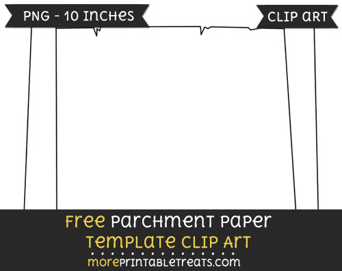 Free Parchment Paper Template - Clipart