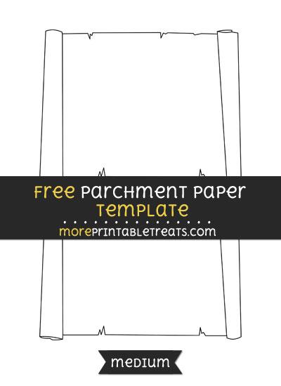 Free Parchment Paper Template - Medium