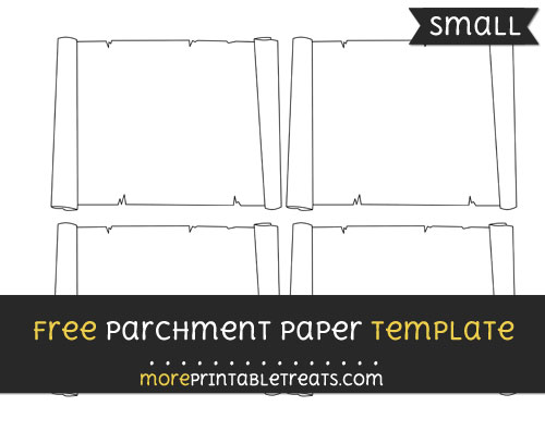 Free Parchment Paper Template - Small