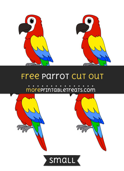 Free Parrot Cut Out - Small Size Printable