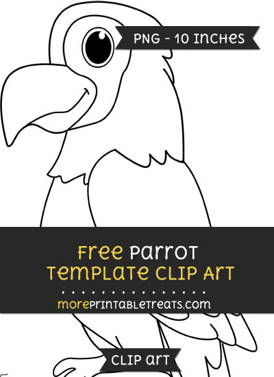 Free Parrot Template - Clipart