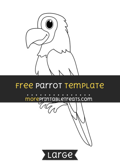 Free Parrot Template - Large