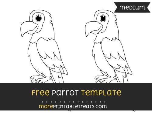 Free Parrot Template - Medium