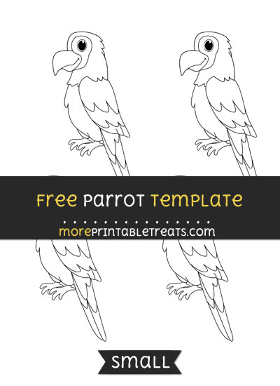 Free Parrot Template - Small