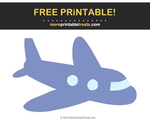 Free Printable Pastel Dark Blue Airplane Cut Out