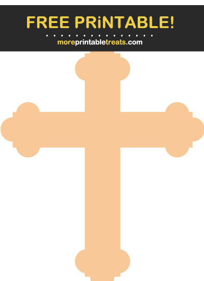 Free Printable Pastel Light Orange Cross Cut Out