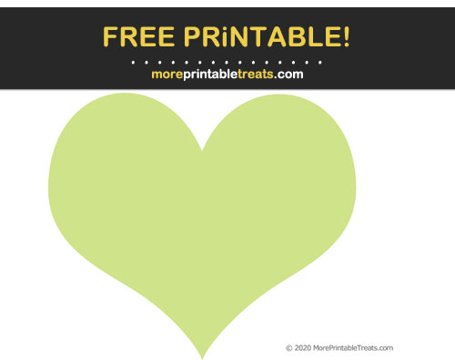Free Printable Pastel Lime Green Heart Cut Out