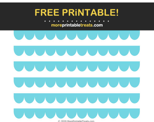 Free Printable Pastel Teal Scalloped Border Cut Out