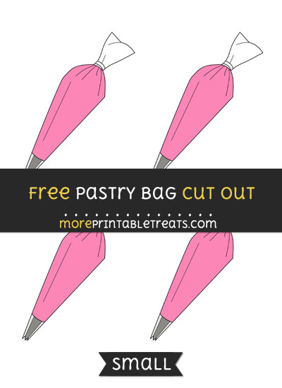 Free Pastry Bag Cut Out - Small Size Printable