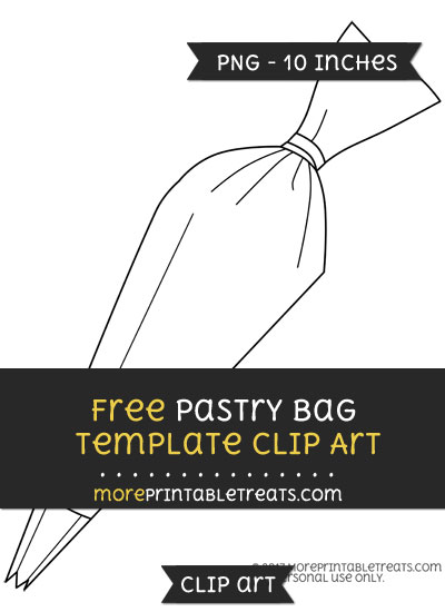 Free Pastry Bag Template - Clipart