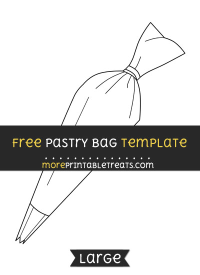 Free Pastry Bag Template - Large