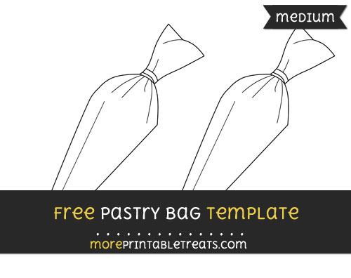 Free Pastry Bag Template - Medium