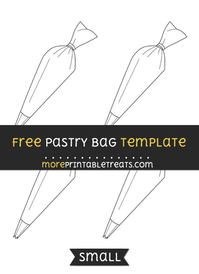 Free Pastry Bag Template - Small